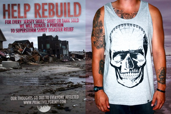 Hurricane Sandy Relief Tee Shirts and Tank Tops from Prime Grime