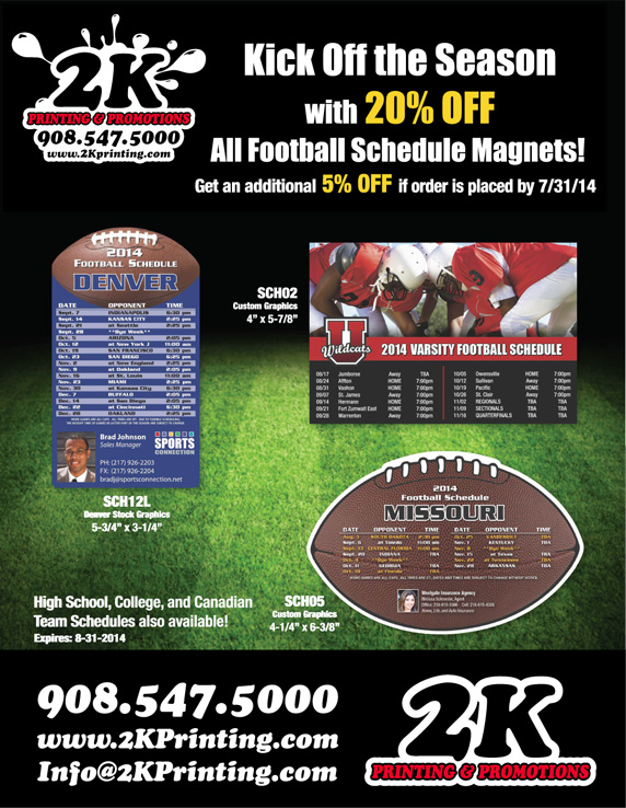 2K-Printing-Football-Schedules-Magnet-Special-Summer-2014