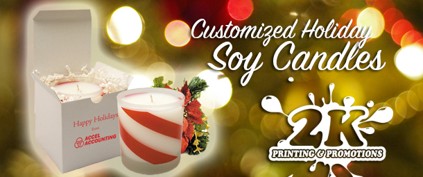 Custom Decorated Soy Candles For The Holidays