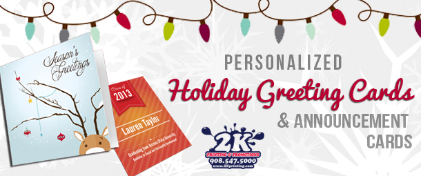 2k Printing Personalized Holiday Greeting Cards Announcement Cards