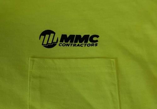 Custom Screen Printed Pocket Tees – MMC