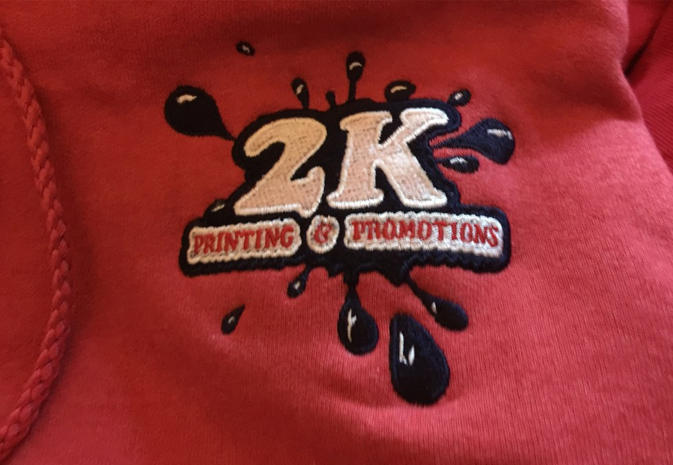 2K Hoodie Embroidery