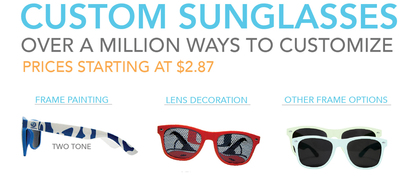 Custom Sunglasses Are A Great Summer Time Promo Item!