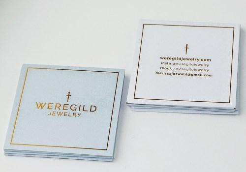 Social Cards W/ Aquafoil For Weregild Jewelry