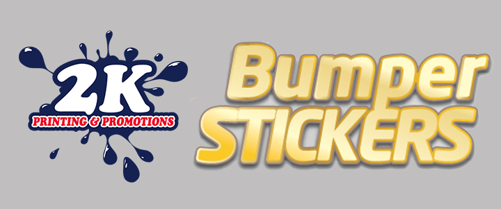 Perfect For Outdoor Use, 2K's Bumper Stickers Are A Great Way To Spread Your Message To The World!