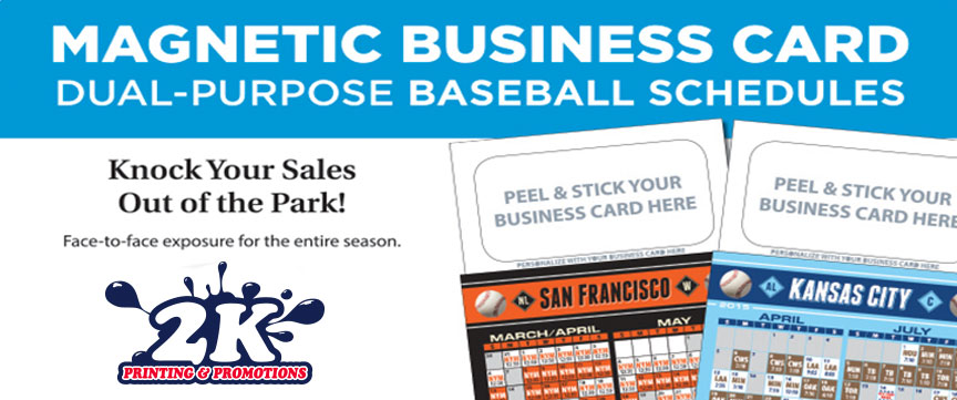 Dual-Purpose Magnetic Baseball Schedule / Business Card Holders!