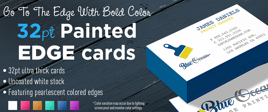 NEW: 32 Point Painted Edge Business Cards From 2K Printing & Promotions