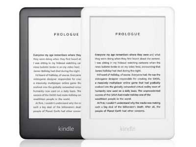kindle (white and black)