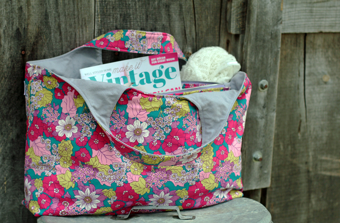 selfish sewing week {The big tote bag by autumn street patterns}
