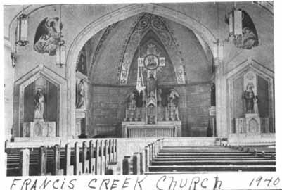 Roman Catholic Churches  Manitowoc County Wisconsin