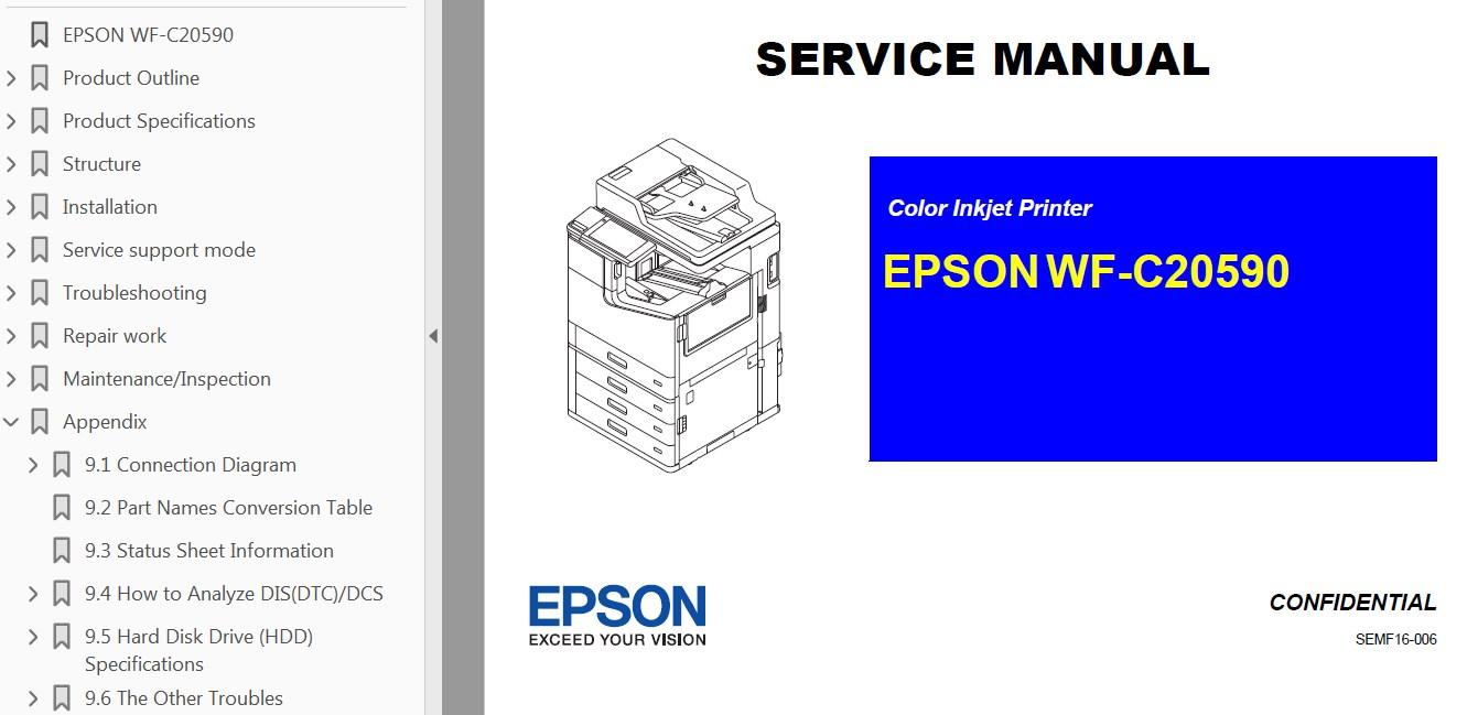 hight resolution of epson b wf c20590 b printers service manual font