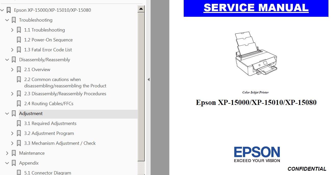 hight resolution of  printers service manual new 52101 29 99 epson b xp 15000 xp 15010 xp 15080