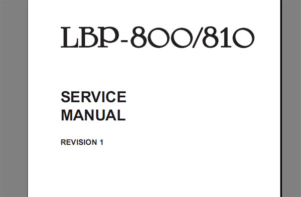 Canon LBP1120 LBP 1120 Service Manual + Parts Catalog