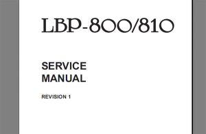 Canon LBP1120 LBP 1120 Service Manual  Parts Catalog