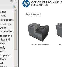 hp officejet pro x451 officejet pro x551 repair manual parts list and diagrams [ 1087 x 745 Pixel ]
