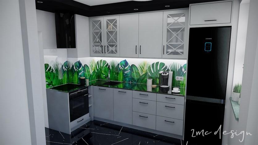 2MC design Nowoczesna kuchnia w bloku