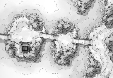 Island Crossing (b&w)