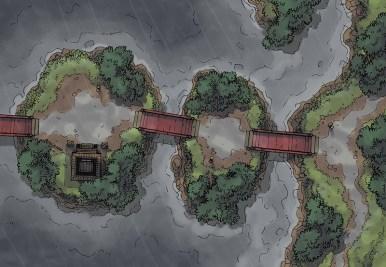 Island Crossing (rain)