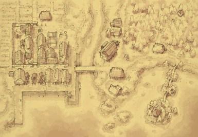Coastal Town (parchment)