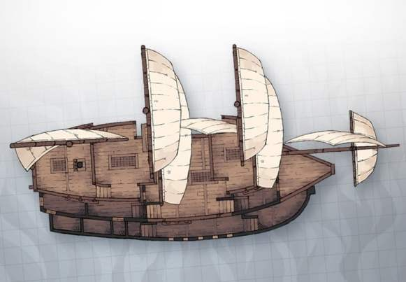 galleon sailing ship map