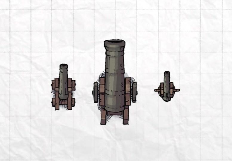 Castle Siege Weapons (cannons, swivel gun)