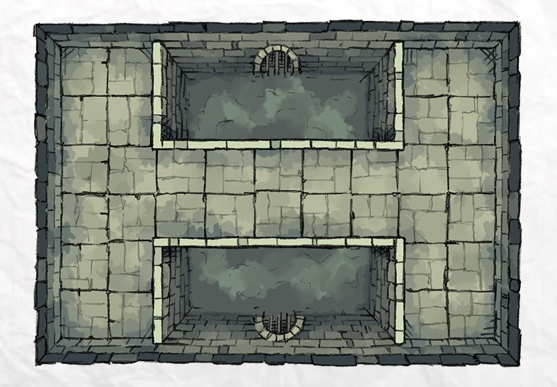 Dungeon Pool battle map