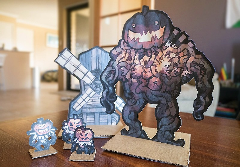 Harvest Horror Printed Paper Figurines