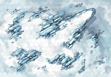 Crystal Hill Snow Battle Map