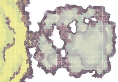 Monster Lair RPG Battle Map, Square Grid
