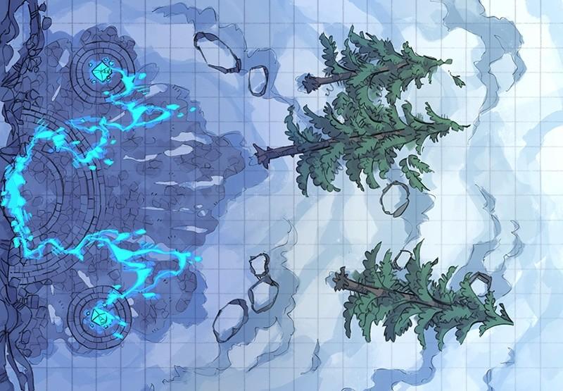 Battle Map: Volatile Portal color square grid