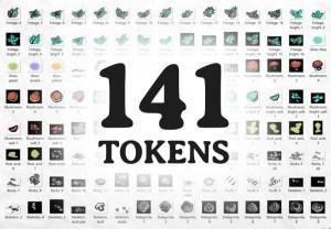 Underdark Terrain RPG Tokens, tokens
