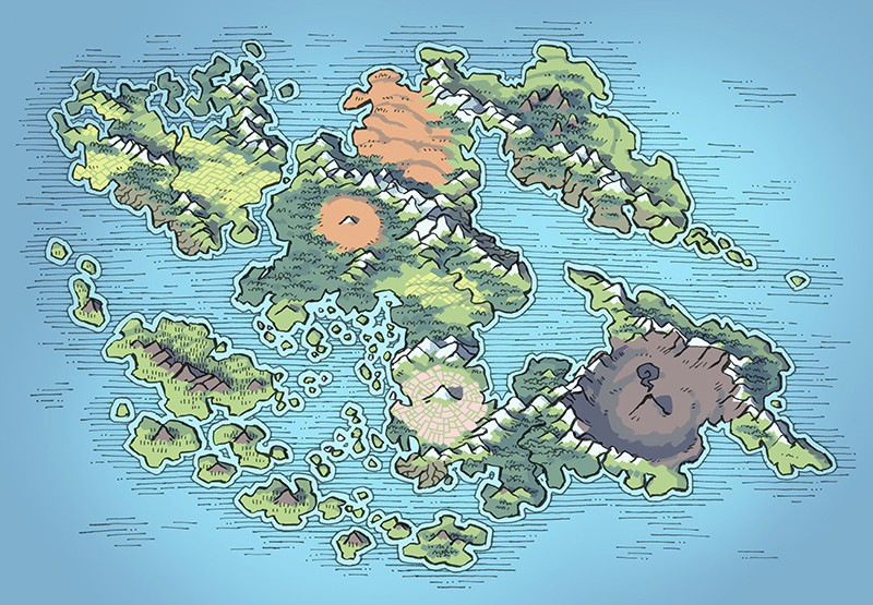 Wei Continent RPG World Map, spring