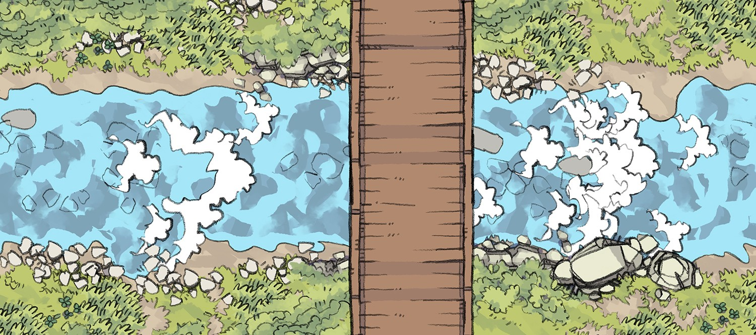 graphic about 2d Printable Terrain identified as 2-Instant Tabletop RPG Beat Maps, Artwork Means, and Written content