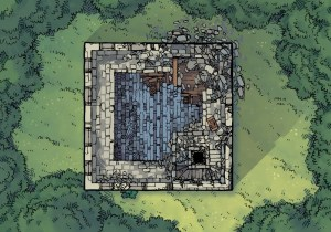 Ruined Keep Battle Map, Forest Glade Preview