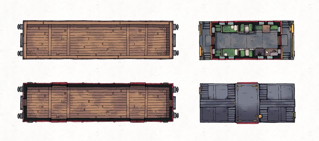 Caboose & Cargo Cars, Banner Preview