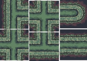 Sewer Battle Map Tiles, Preview