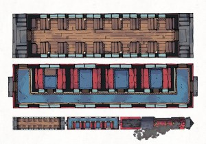 Steam Train Passenger Cars, Preview