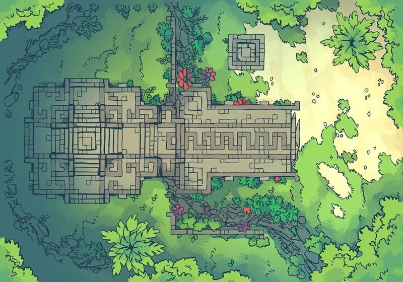 Jungle Podium battle map, master