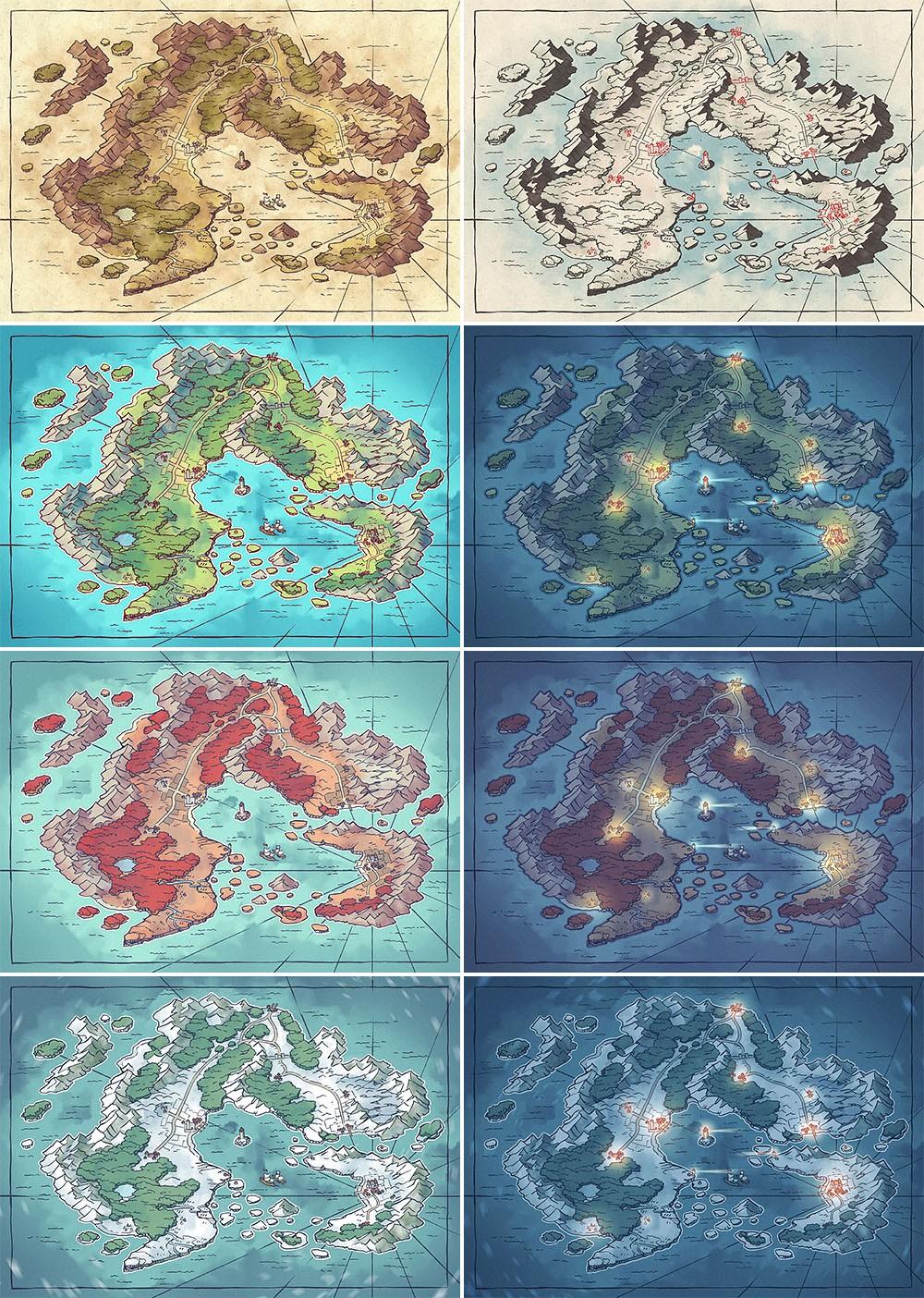 Arvyre Fantasy Map - Patreon Variants
