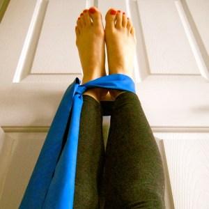 Legs up the door