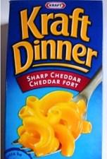 The classic blue box for Kraft Dinner