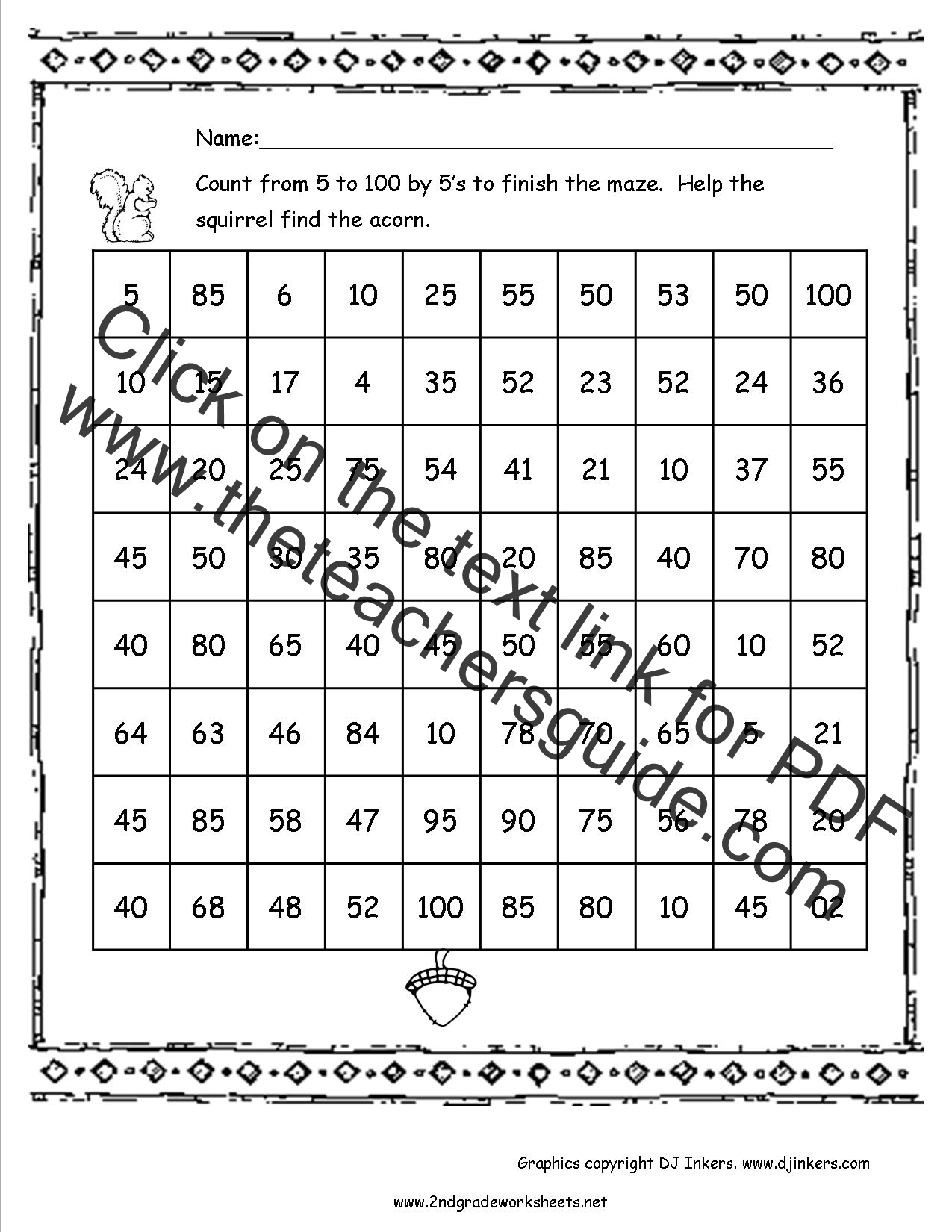 100th Day Number 100 Coloring Page