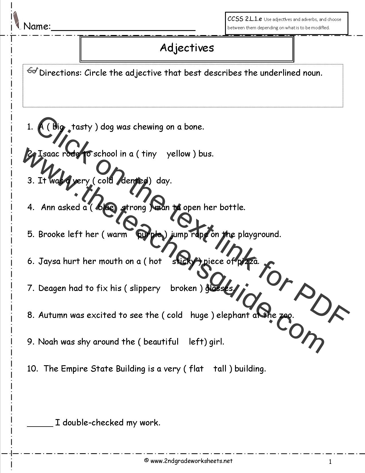 Adverbs Worksheet For Grade 4