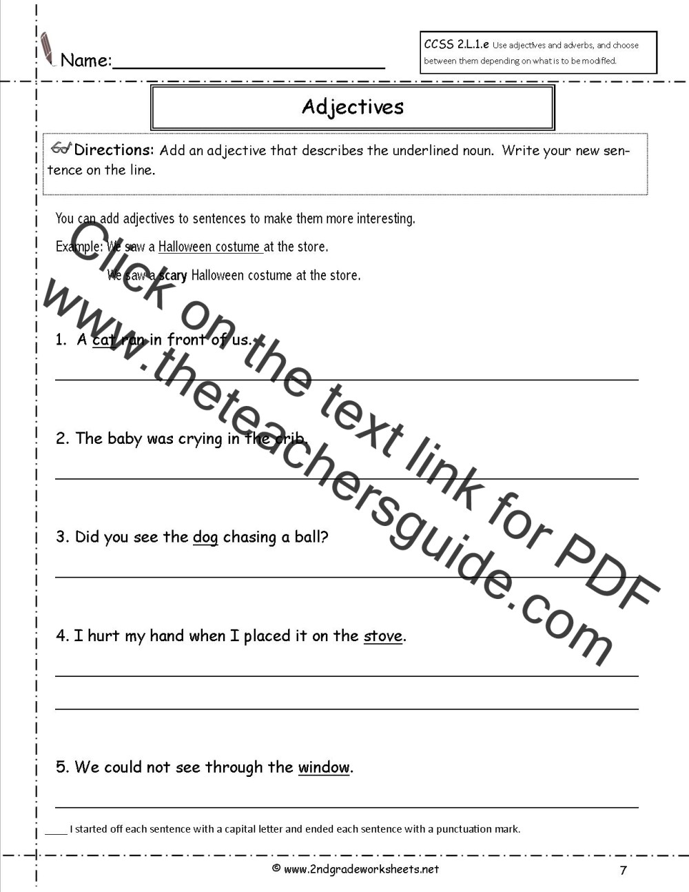 medium resolution of Free Using Adjectives and Adverbs Worksheets