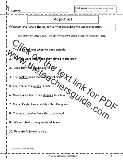 small resolution of Free Using Adjectives and Adverbs Worksheets