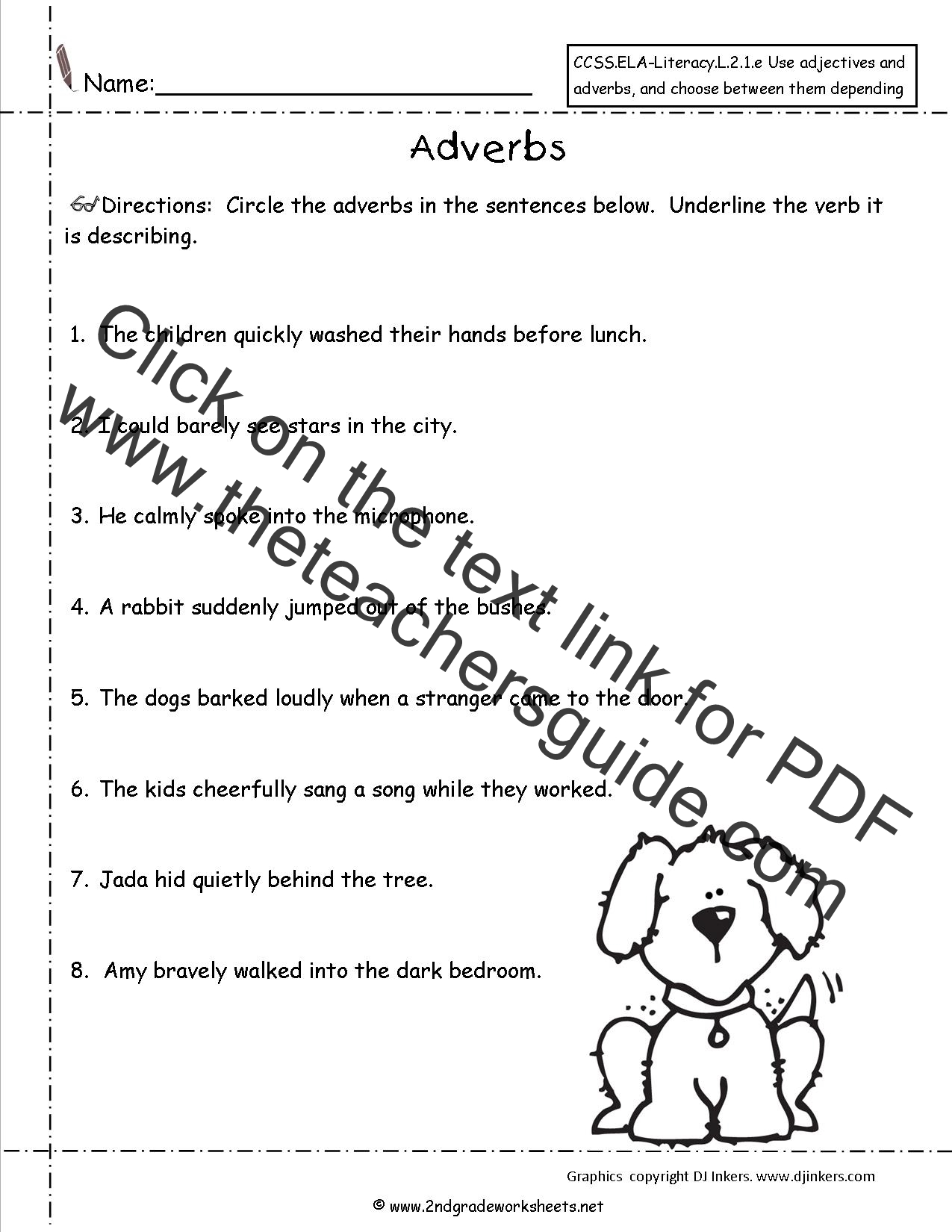 Kinds Of Adverbs Worksheet Grade 3