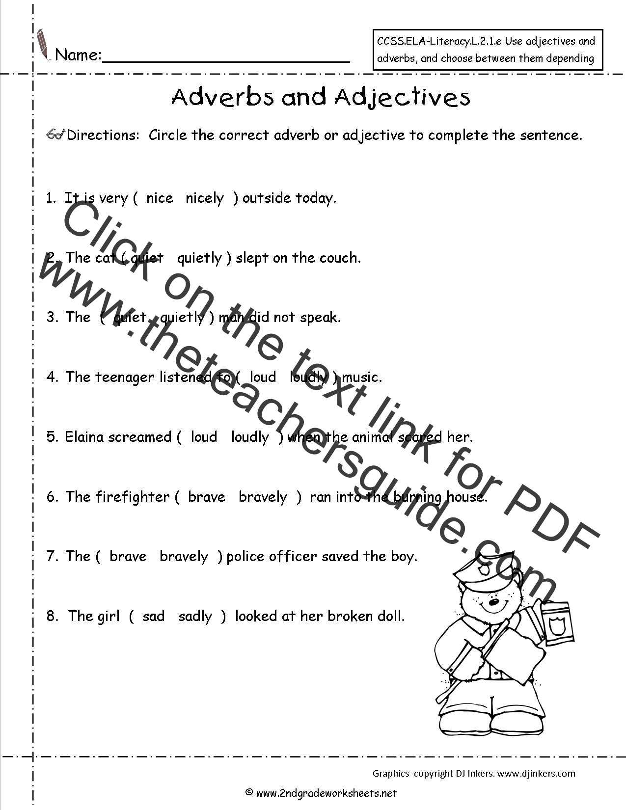Identifying Adverbs Worksheets For Grade 3