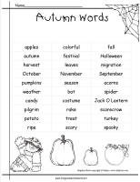 Autumn Theme Worksheets and Printouts.