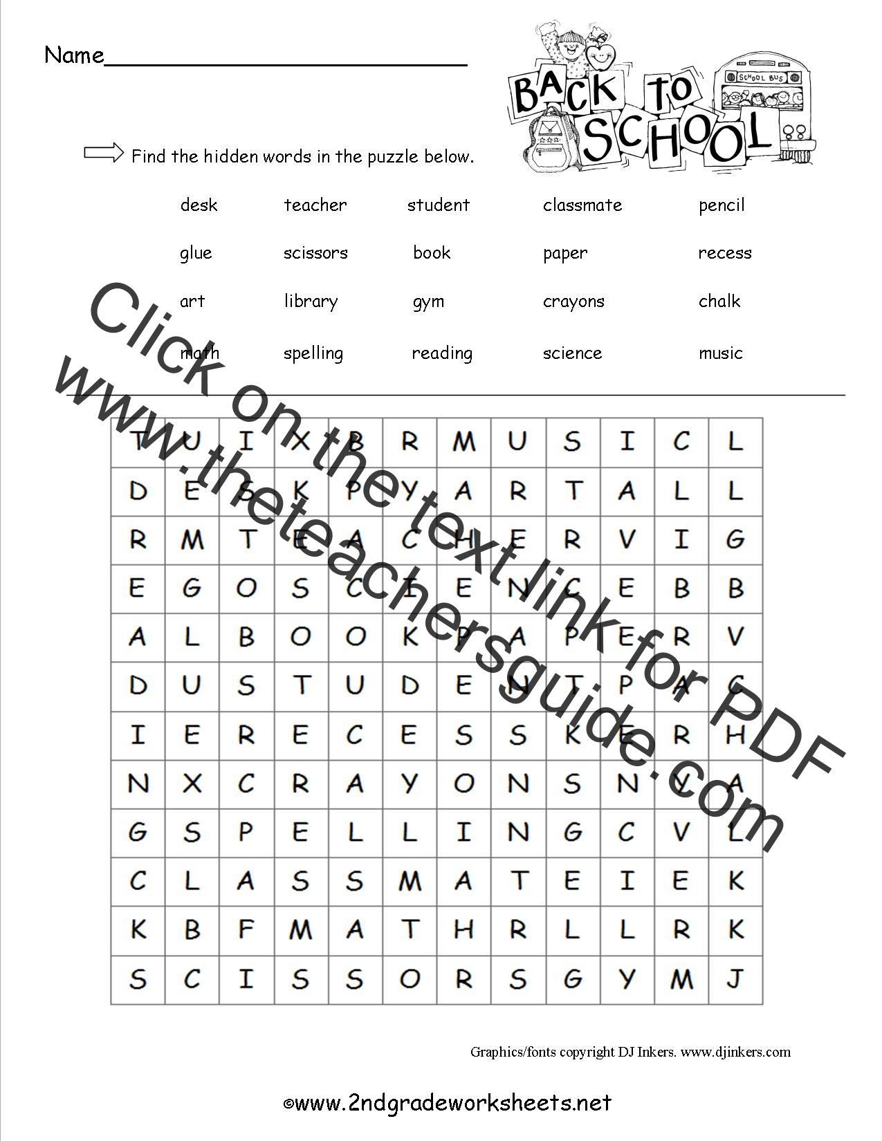 hight resolution of Free Back to School Worksheets and Printouts