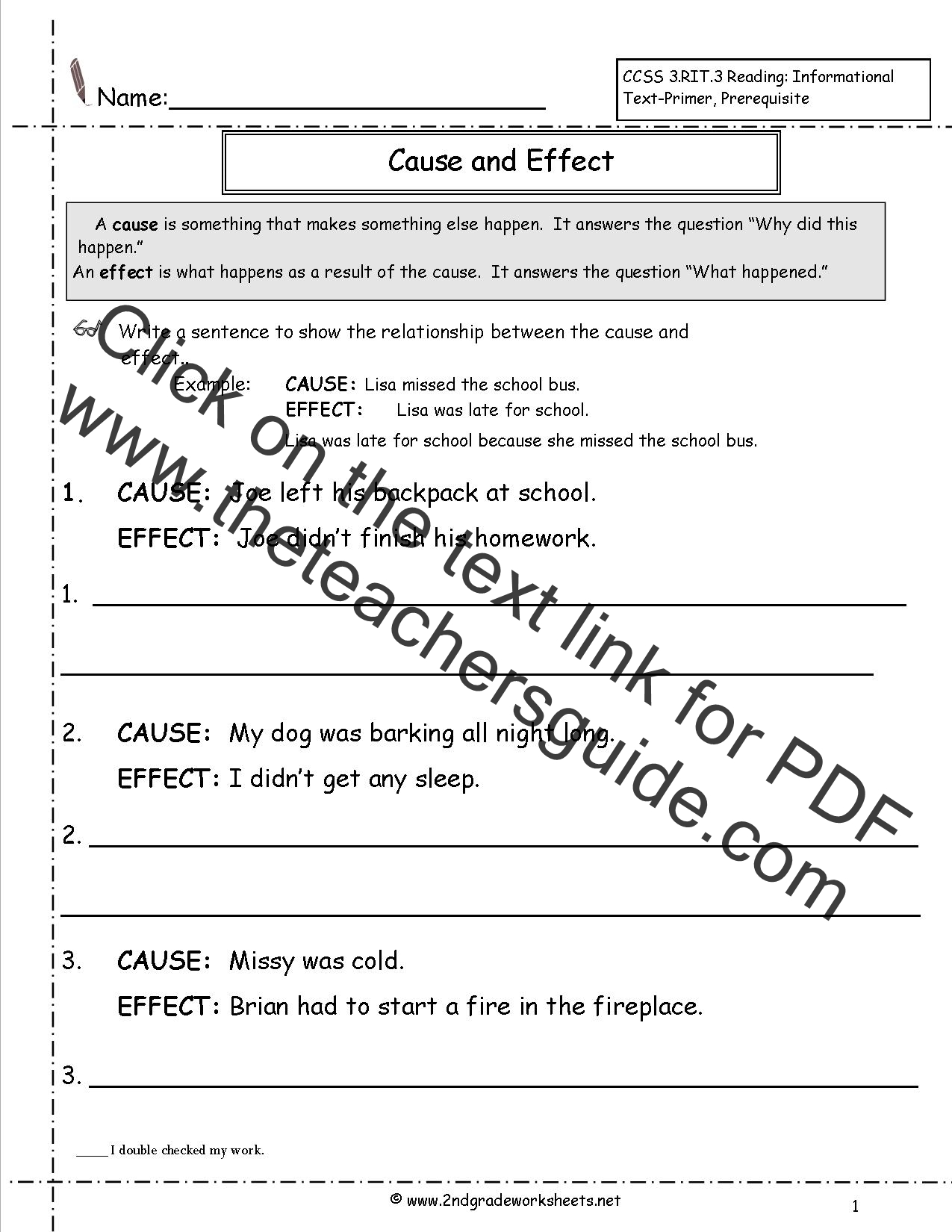 Worksheets Cause And Effect Worksheets 5th Grade